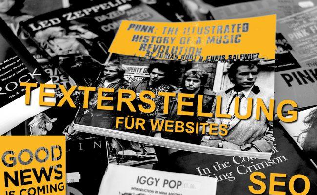 PUNK + ROCKER - Texterstellung für Websites - mit SEO im Blick